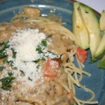 Meatless Monday: Pasta with Sauteed Veggies and White Bean Sauce