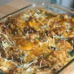 Mushroom and Leek Savory Bread Pudding