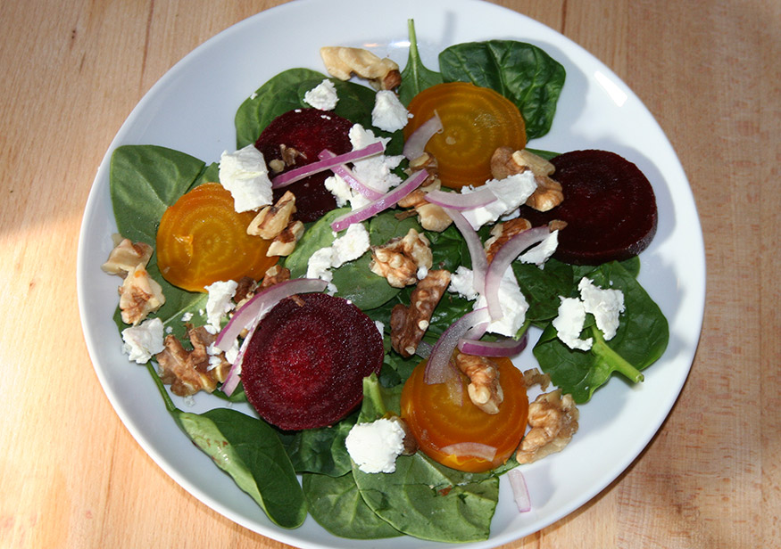 spinach-and-beet-salad
