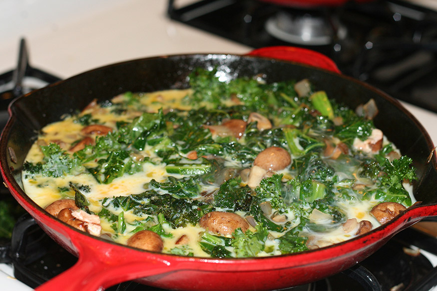 kale-with-eggs