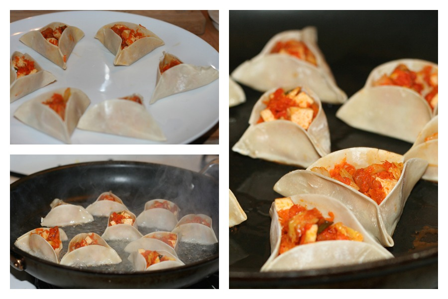 Prepping and Cooking Dumplings