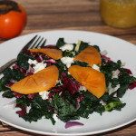 Massaged Kale and Persimmon Salad
