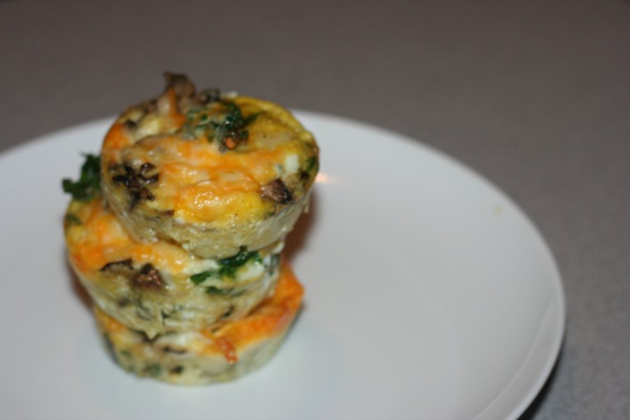 portabella and kale breakfast muffins